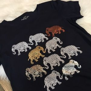 J. Crew Collector Tees Elephant 🐘 Print